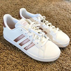 rose gold adidas trainers